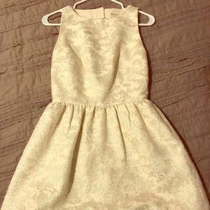 "Alice and Olivia White Jacquard ""Lillyanne"" Dress"